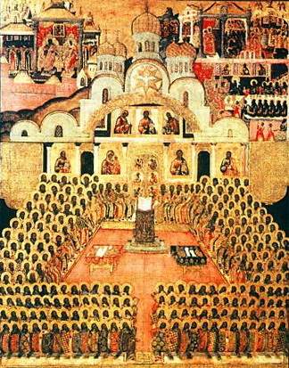 Oct 13; Commemoration of the Fathers of the Seventh Ecumenical Council, Octoechos Tone 1; The Holy Martyrs Carpus, Papylas and Agathonicus (249-51)