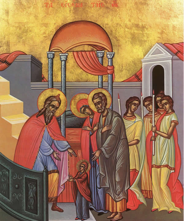 Nov 21; Entrance of the Mother of God Into the Temple