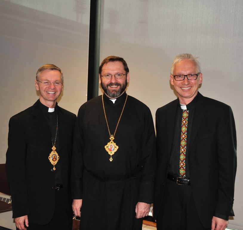 Ukrainian Catholic community celebrating historic visit