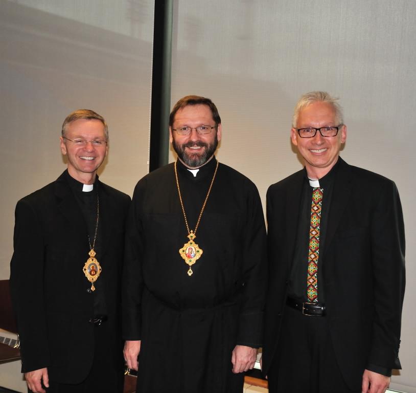 Ukrainian Catholic community celebrating historic visit