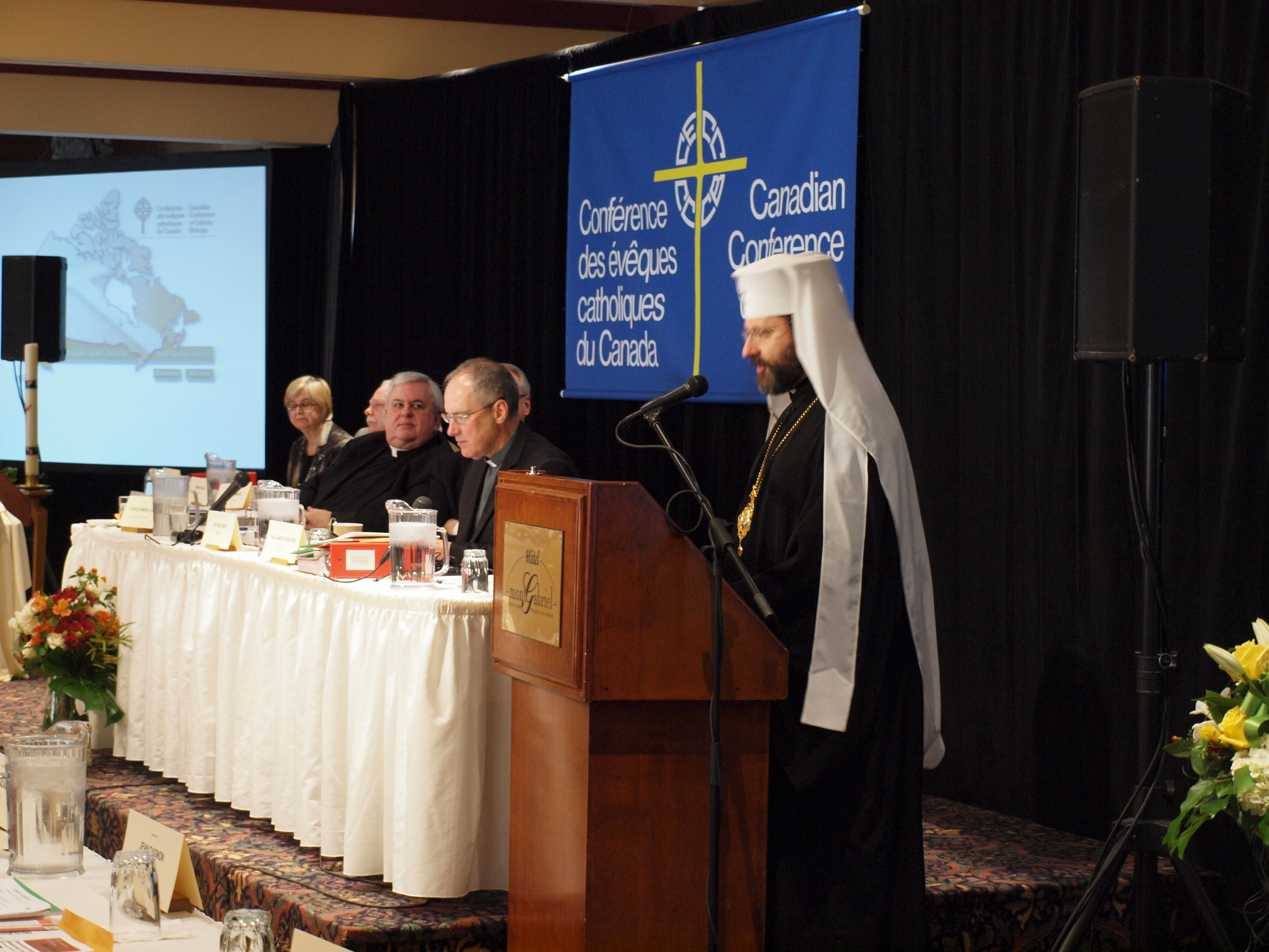 ADDRESS OF HIS BEATITUDE SVIATOSLAV TO THE  CANADIAN CONFERENCE OF CATHOLIC BISHOPS