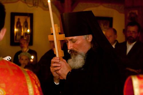 Hieromonk Taras Kraychuk tonsured to the Lesser Schema (Stavrophore)