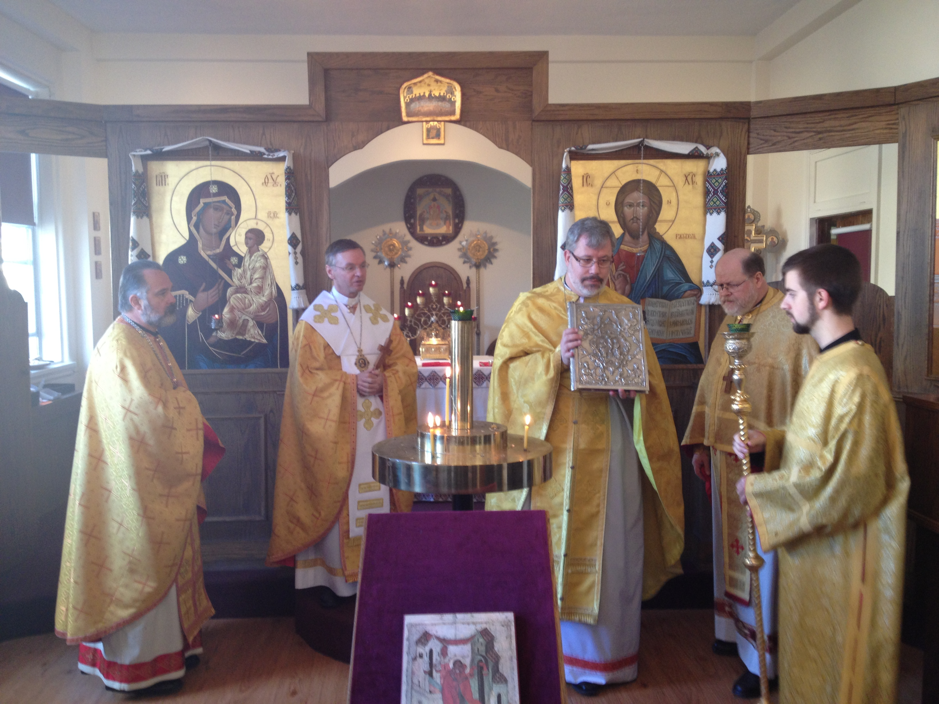 PHOTOS: Bishop David Celebrates Liturgy at Metropolitan Sheptytsky Institute Chapel in Ottawa