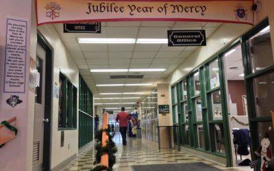 Photo: Door of Mercy from Austin O'Brien Catholic High School, Edmonton.