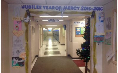 Photos: Door of Mercy at St. Kevin Catholic Junior High School, Edmonton