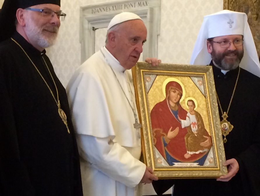 PHOTO: Patriarch Sviatoslav and the Permanent Synod meet with Pope Francis