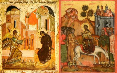 March 25 – Palm Sunday: The Lord's Entrance into Jerusalem; Annunciation of Our Most Holy Lady, the Mother of God and Ever-Virgin Mary; Passing into Eternal Life (1944) of Blessed Omelian (Emil) Kovch, Priest of Peremyshliany and Martyr of Majdanek