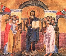 Sept 1; Twelfth Sunday after Pentecost, Octoechos Tone 3; Beginning of the Indiction, that is, the New Year; Our Holy Father Symeon the Stylite (459) and his mother Martha; Synaxis of the Most Holy Mother of God of Miasenes