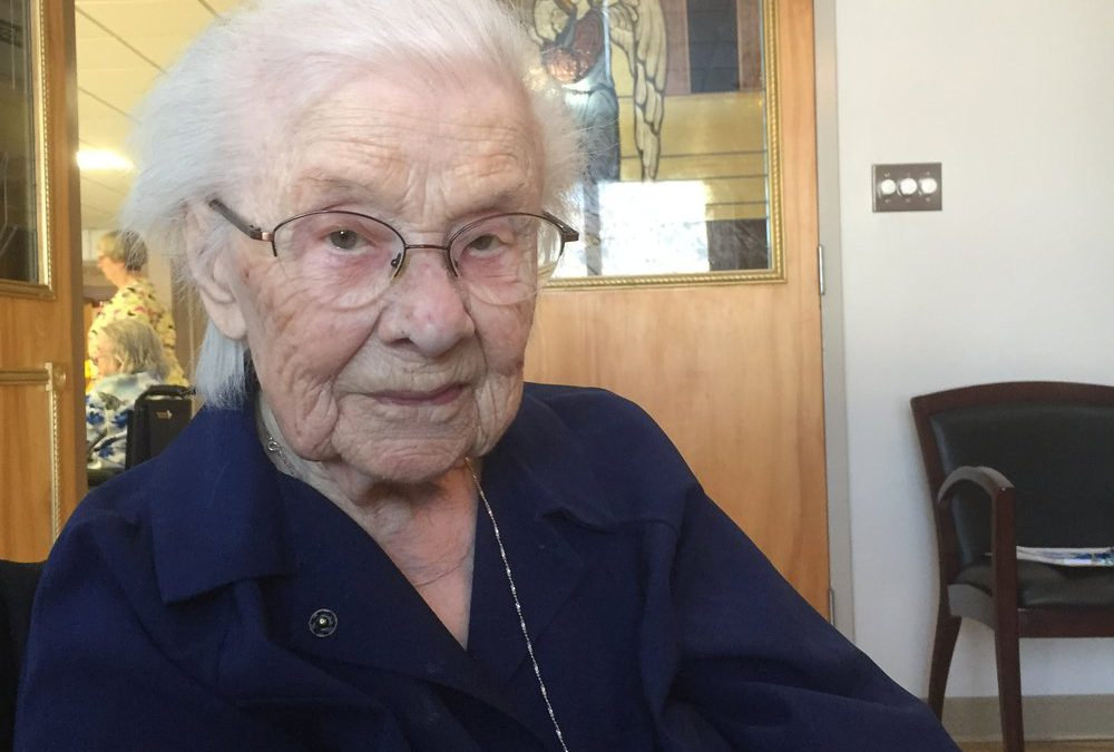 A lifetime of Service Turning 105, Sister Aloysia Continues to Help Others