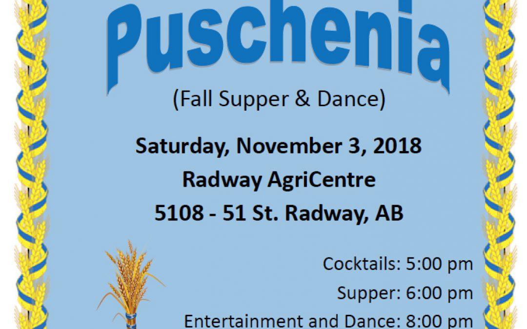 Puschenia: November 3, 2018 in Radway, AB