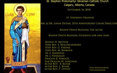 Pictures from St. Stephen's Praznyk (Sept 16) and Feast of the Cross (Sept 13)