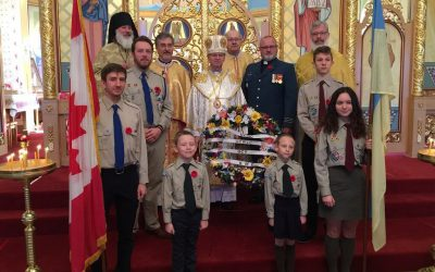 Remembrance Day 2018 at St. Josaphat Cathedral in Edmonton