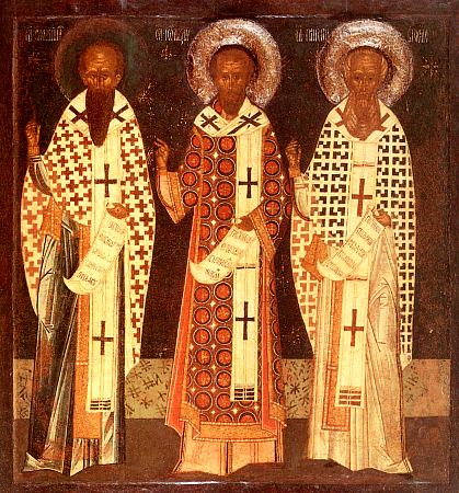 January 30; Three Holy Hierarchs, Basil the Great, Gregory the Theologian, and John Chrysostom