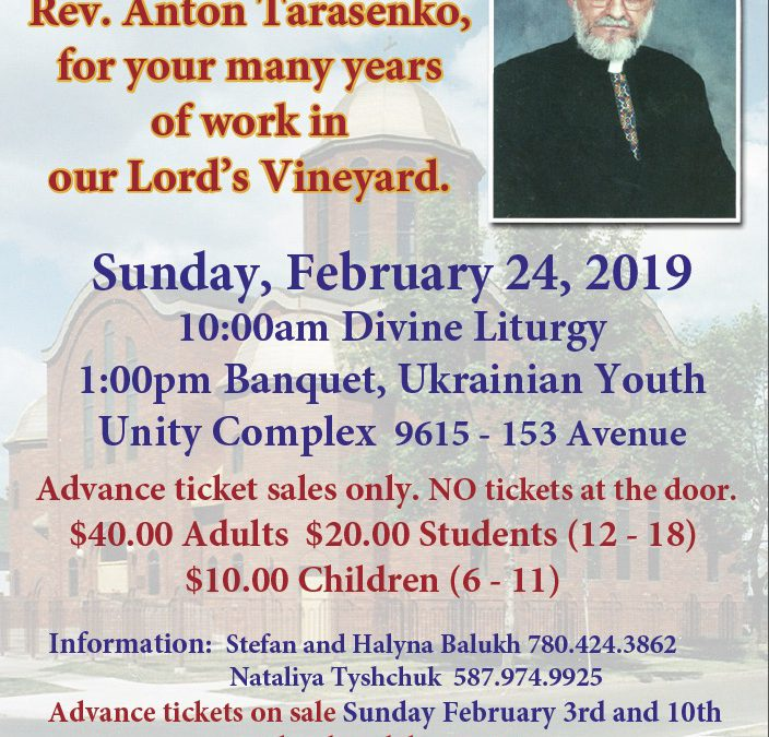 Banquet for Fr. Anton Taresenko on the Occasion on His Retirement