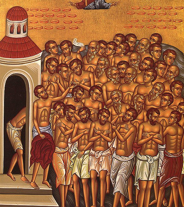 March 09; The Holy Forty Martyrs of Sebaste (321-23); First Saturday of the Great Fast: Great Martyr Theodore the Recruit