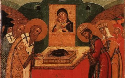 July 2; The Placing of the Precious Robe of our Most Holy Lady and Mother of God in the Church at Blachernae in Constantinople