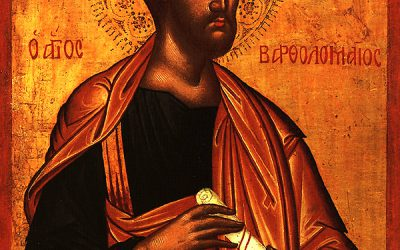 Aug 25; Eleventh Sunday after Pentecost, Octoechos Tone 2; The Return of the Relics of the Holy Apostle Bartholomew (829-42); Holy Apostle Titus