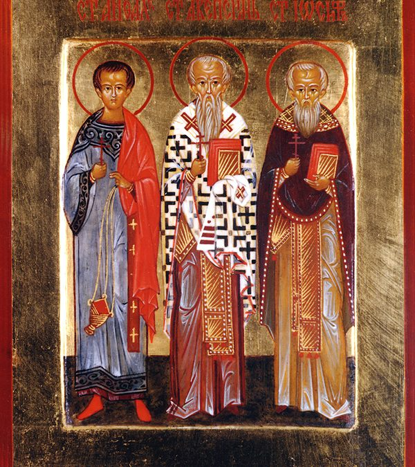 Nov 03; Twenty-First Sunday after Pentecost, Octoechos Tone 4; The Holy Martyrs Acepsimas the Bishop (378), Joseph the Priest and Aithalis the Deacon (379); the Dedication of the Church of the Holy Great Martyr George in Lydda, Where His Precious Body is Entombed