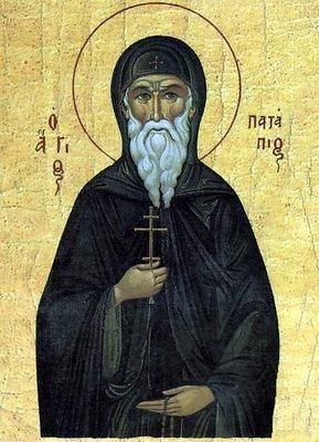 Dec 08; Twenty-Sixth Sunday after Pentecost, Octoechos Tone 1; Our Venerable Father Patapius