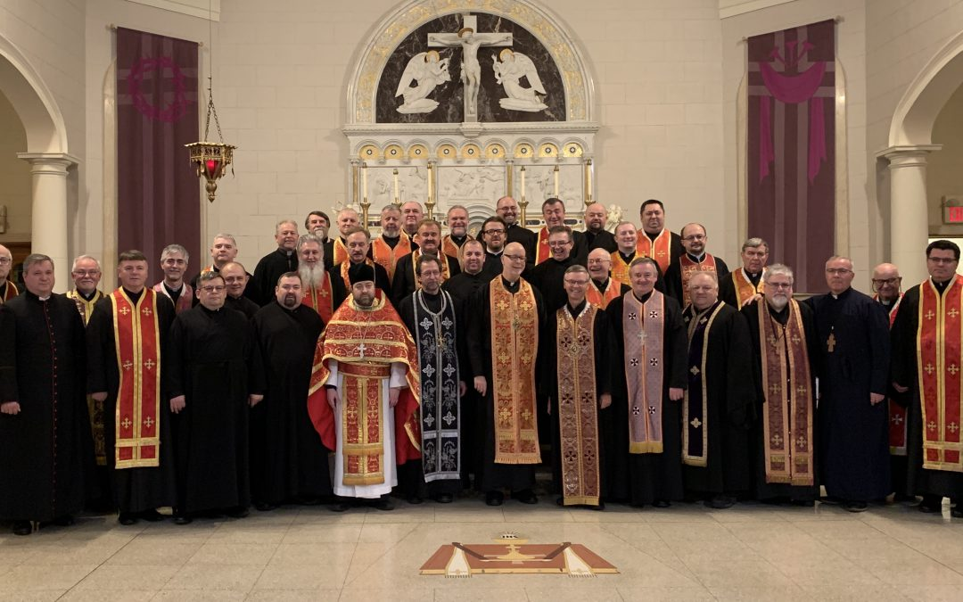 Photos: Bishop David Leads Clergy of Stamfort Eparchy in Annual Retreat