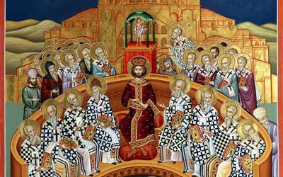 "7th Sunday after Pascha. Sunday of the Holy Fathers of the First Ecumenical Council of Nicaea, Tone 6; Our Venerable Father Simeon of the ""Mountain of Wonders"" (596)"