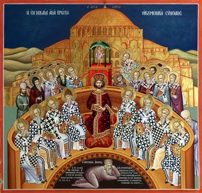 May 16: Seventh Sunday after Pascha, Sunday of the Holy Fathers of the First Ecumenical Council of Nicaea, Tone 6