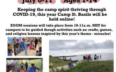 Camp St. Basil… ONLINE!
