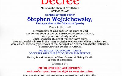 Congratulations Father Stephen!