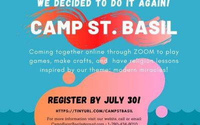 Camp St. Basil Online!