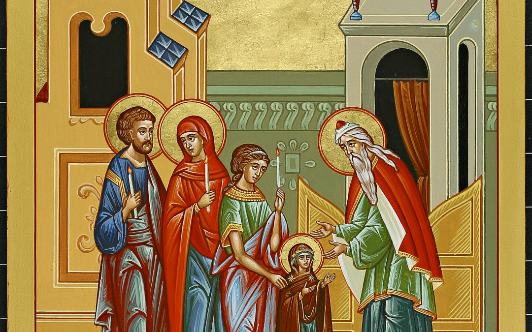 Entrance of the Holy Mother of God into the Temple Icon