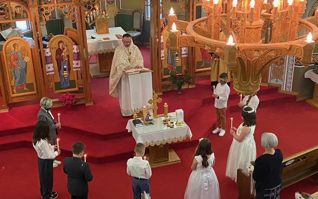 Solemn Holy Communion Celebration at St. Vladimir's Parish, Red Deer