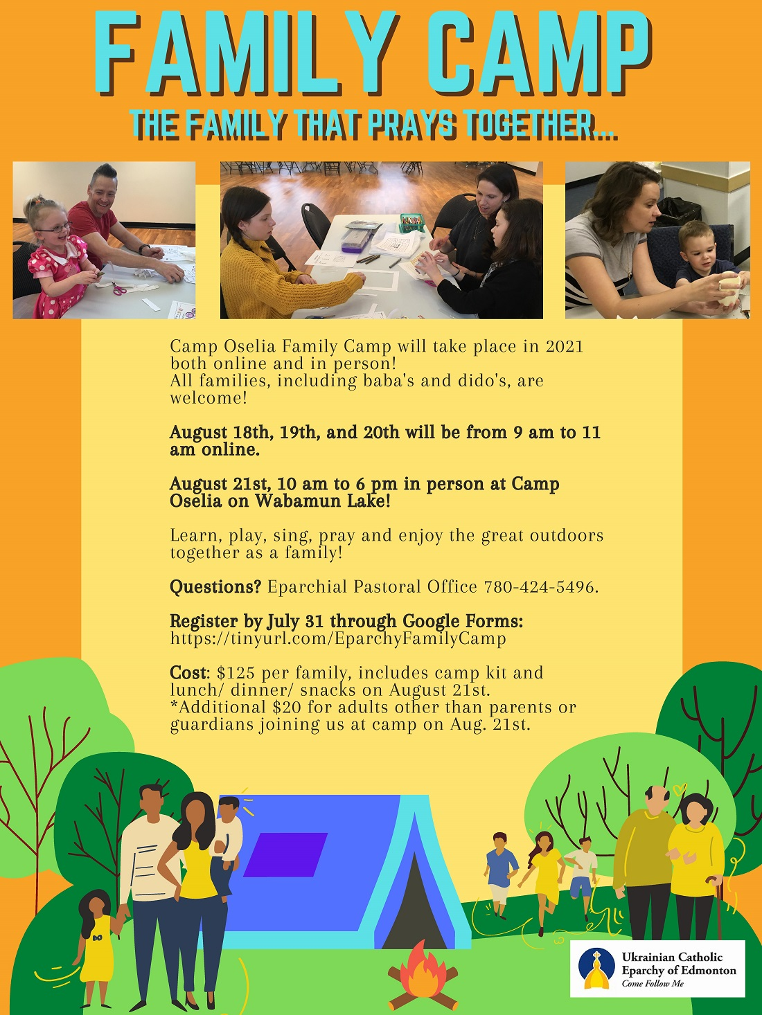 Family camp poster